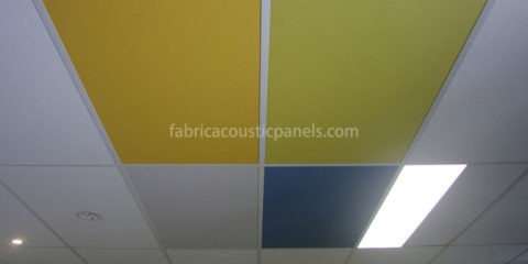 Hanging Fabric Ceiling Panels Decorative Suspended Acoustic Ceiling Panels