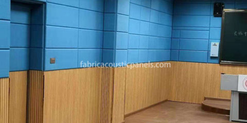 Acoustical Fabric Wall Covering Fabric-Covered Panels Echo Absorbing Panels Fabric Covered Paneling