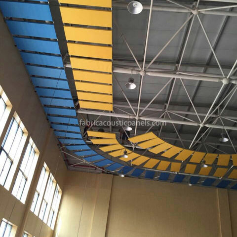 Hanging Sound Baffles Hanging Baffles Materials Sound Absorption System Sound Absorbing Baffles System